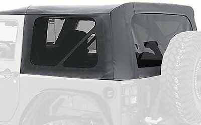 2007-2009 Jeep Wrangler 2 Door Replacement Soft Top with Tinted Windows Black