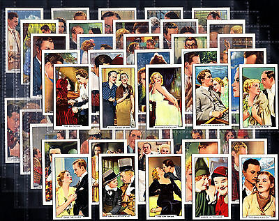 Quality Full Set Gallaher FAMOUS FILM SCENES 1935 Cigarette Cards VG+ / EXC+