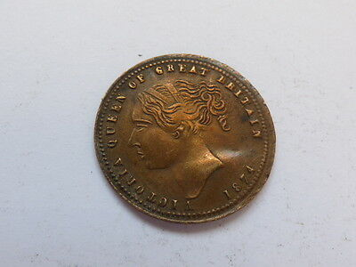 Victoria Queen Great Britain Prince Wales Model Half Sovereign 1874 (myref7490B)