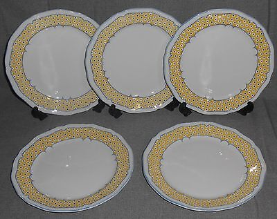 Set (5) Sango Country French VERSAILLES PATTERN Salad Plates