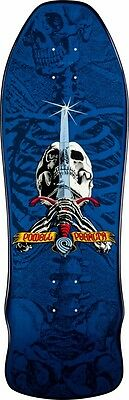Powell Peralta GEE GAH SKULL AND SWORD Reissue Skateboard Deck NAVY