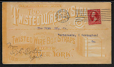 1903 Twisted Wire Box Straps All-Over Advertising Cover New York *AD1-4