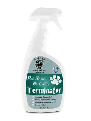 Bubbas Pet Stain and Odor Remover- 32 oz Enzyme Cleaner Spray for Dog or Cat