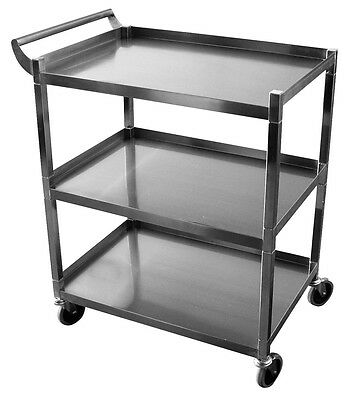 "ACE Stainless Steel Bus Cart 250Lbs Cap. 15.5""W x 26.5""L x 34""H Knock-down C-31K"