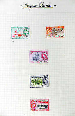 CAYMAN ISLANDS 1953 Complete to 10/- SG148/161 Mounted Mint on 2 Pages FP6100
