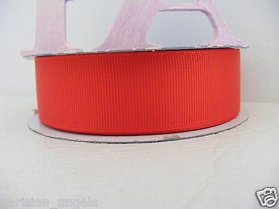 """1""""  (25mm) Grosgrain Ribbon Solid Colour  #3996 Red"""
