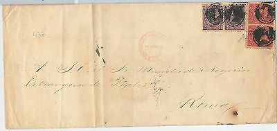 51070 -  EL SALVADOR -  POSTAL HISTORY - COVER with very nice FRANKING
