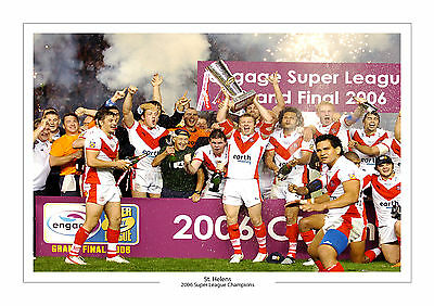 2006 Grand Final Super League Champions St Helens A4 Print Photo Rugby League