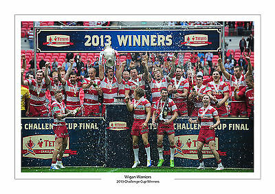 2013 Challenge Cup Winners Wigan Warriors A4 Photo Rugby League