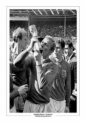 Bobby Moore England A4 Print Photo World Cup 1966 Trophy West Ham 3