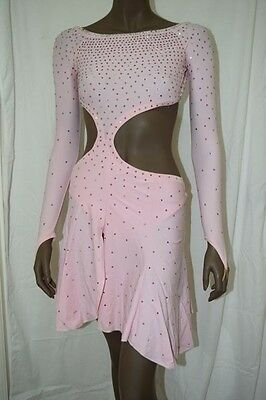 Latin Ballroom or Salsa Dress, Swarovski stones,  US 4-6, UK 6-8