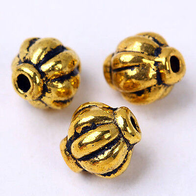 110pcs Brass Yellow Drum Spacer Beads Charm Findings Fashion Jewellery Gift