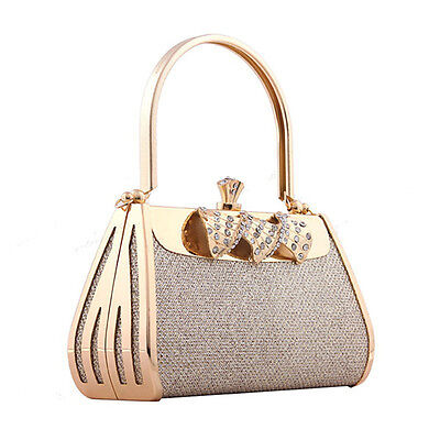 New Luxury Women's Party Bags Prom Wedding Bridal Gold Clutch Bag Handbags Purse