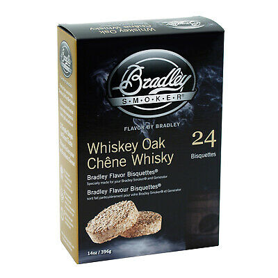 New Bradley Whiskey Oak Bisquettes 24 Pack