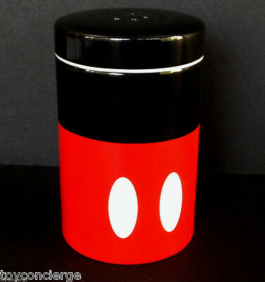 DISNEY Parks SALT or PEPPER Shaker MICKEY MOUSE Red Black COLORFUL Ceramic NEW