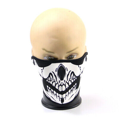 Skull Bandana Winter Mask Bike Motorcycle Scarf Neck Warmer Skeleton Sport Ski