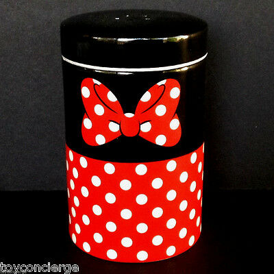 DISNEY Parks SALT or PEPPER Shaker MINNIE MOUSE Red Black COLORFUL Ceramic NEW