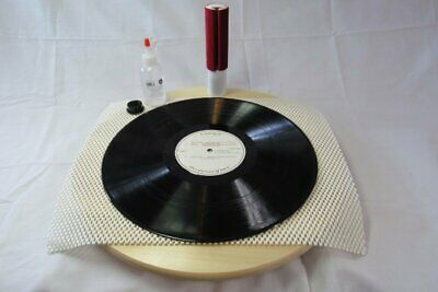 Mk1 Vacuum Record Cleaning Kit Complete With Turntable Vinyl Cleaner Wand Brush