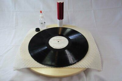 Mk1 Vacuum Record Cleaning Kit W/ Turntable Anti Stat Fluid Cleaner & Brush Wand