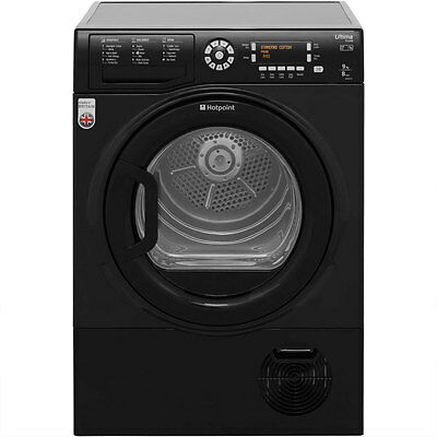 Hotpoint SUTCD97B6KM Ultima S-Line 9Kg Condenser Tumble Dryer Black New from AO