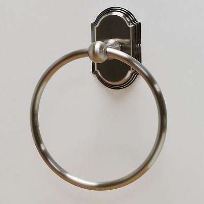 Residential Essentials Ridgeview Wall Mounted Towel Ring Satin Nickel
