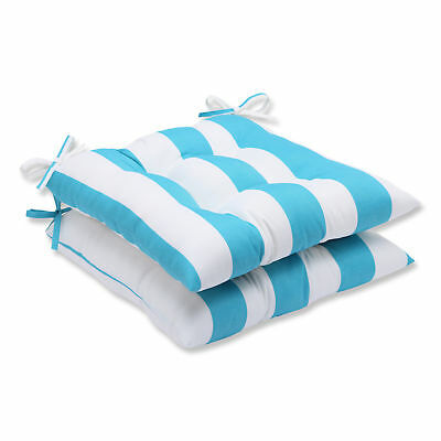 Pillow Perfect Cabana Stripe Outdoor Dining Chair Cushion Set of 2