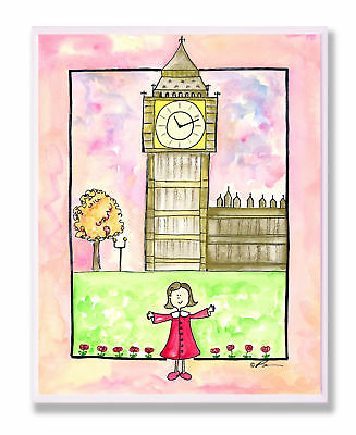 Stupell Industries The Kids Room Girl In London Wall Plaque