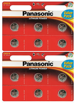12x Panasonic CR2016 Specialist High Quality Lithium 3V Coin Cell Batteries