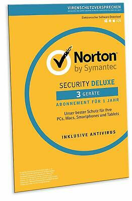 Norton (Internet) Security DELUXE 2018 / 2019 für 3 Geräte - PC,MAC, Android