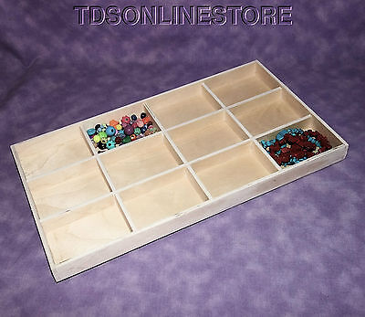 12 In 1 Natural Wood Jewelry Display Tray