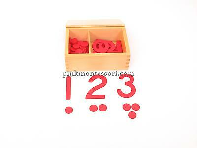 Pinkmontessori Mathematics Material- Cut-Out Numerals & Counters M010