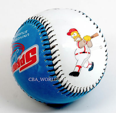 Universal Studios The Simpsons Springfield Isotopes Homer Collectible Baseball