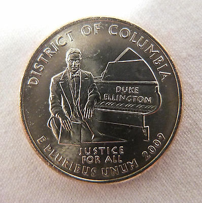 Duke Ellington (reverse)2009 WASHINGTON DC UNCIRCULATED QUARTER(D) From Roll