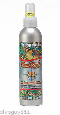 Reef Safe Eco-Friendly Sprayable SPF 45+ Biodegradable Sunscreen 8.45oz