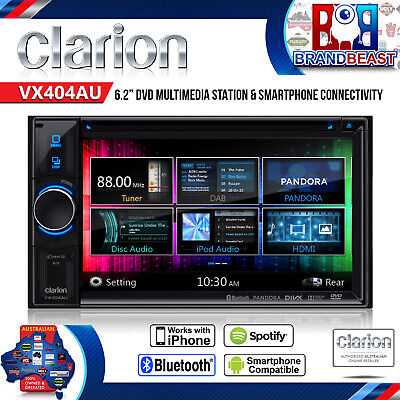 "Clarion Vx404au 6.1"" Multi Media Car Reciver 2din Cd Usb Ipod Bt Sd Hd Screen"