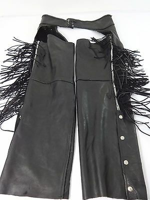 """Milwaukee Leather Mens Black Motorcycle Riding Chaps Size Xl Up To 42"""" Waist"""