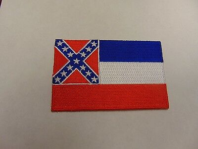 Patch Mississippi State Southern Flag Heritage 3 1/2 By 2 1/2 Sew On