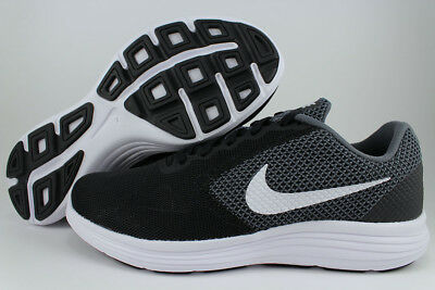 Nike Revolution 3 Extra Wide 4E Eeee Dark Gray/white/black Running Us Mens Sizes