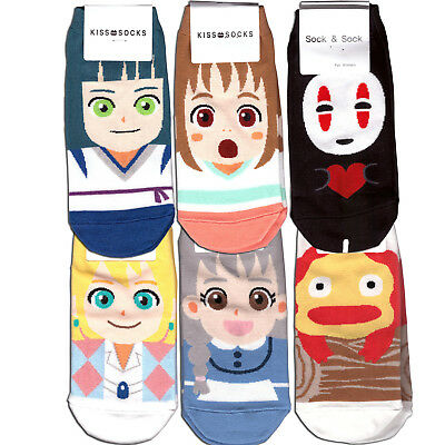 Miyazaki Spirited Away and Howl's Moving Castle socks for Woman