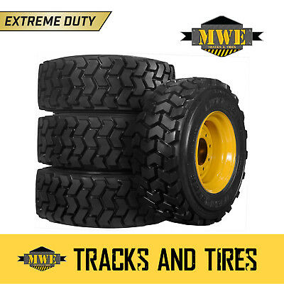 12x16.5 (12-16.5) Extreme Duty 12-Ply Lifemaster Skid Steer Tires - CAT Yellow