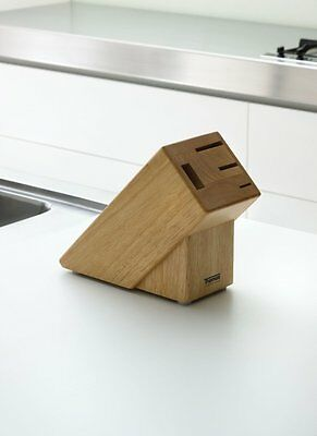 Thomas Rosenthal 4 Slot Solid Wood Kitchen Knife Storage Block