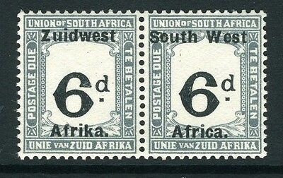 SOUTH WEST AFRICA-1923 6d Black & Slate.  An unmounted mint pair Sg D5