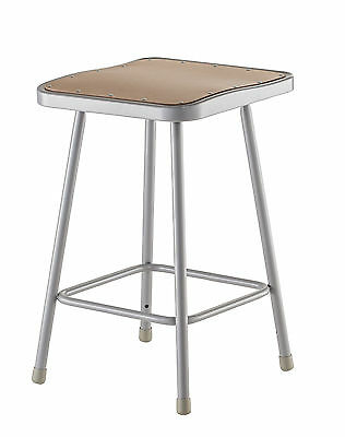 """National Public Seating Stool with Square Seat 24"""""""