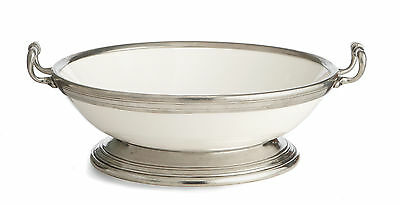 Arte Italica Tuscan Footed Fruit Bowl with Handles