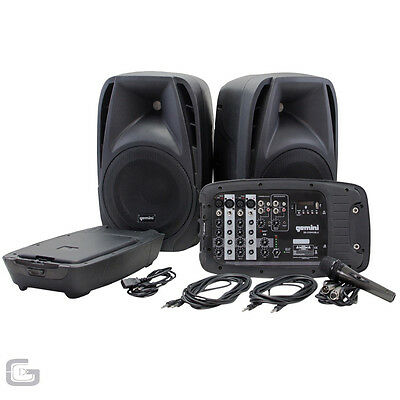 Gemini Es-210Mx-Blu 300W Rms Dual Bluetooth Mixer Dj Pa All In One Band System