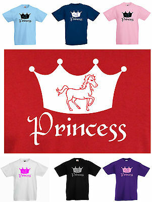 KIDS / CHILD'S PONY/ HORSE PONY PRINCESS T-SHIRT, 3 to 13 yrs