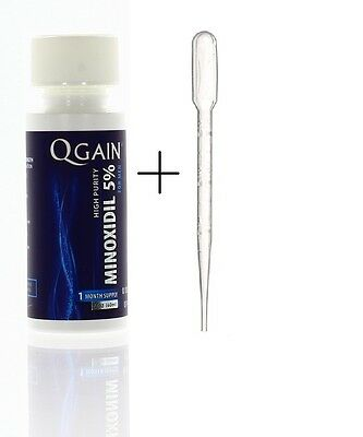 QGAIN Minoxidil 5% EXTRA STRENGTH For Men FREE SHIPPING WORLDWIDE