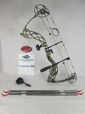 Diamond Deploy SB Compound Bow Package Right hand 70lbs camo & Arrows