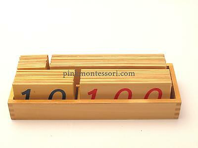 Pinkmontessori Mathematics Material- Large Wooden Number Cards 1 - 9000