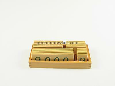 Pinkmontessori Mathematics Material- Small Wooden Number Cards 1 - 9000